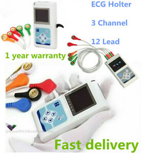 Holter 24 Hours 3 Channel Ecg ekg Monitor System Contec Tlc9803 Usb Software ce