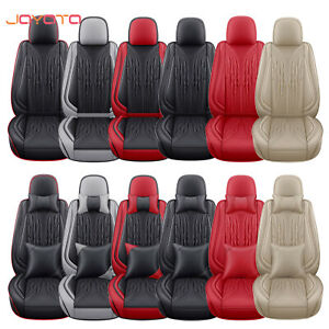 Pu Leather Car Seat Covers For 5 Seats Car Cushion Full Set Universal Fit