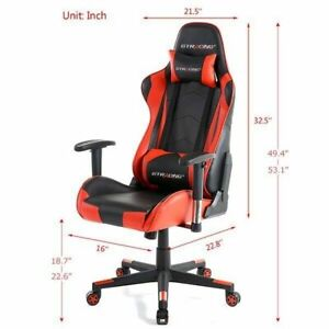 Gtracing Pro Series Gt099 Computer Game Chair Red
