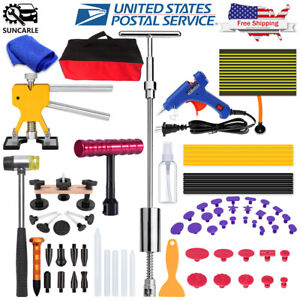 Us Paintless Dent Removal Puller Dent Lifter Tool Line Board Repair Hammer Kits