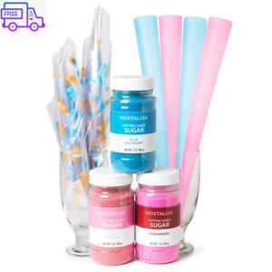 Cotton Candy Floss Sugar Flavoring Party Kit Cone Bag Mix Maker Supplies For Kid