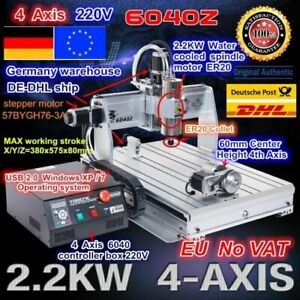 us 4 Axis Usb Port Mach3 6040 2 2kw 110v Cnc Router Engraving Milling Machine