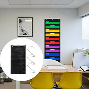 Home Wall Mounted Hanging File Folder With Hooks office Storage Magazines School