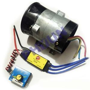 12v Car Electric Turbocharger Boost Air Fan Electronic Speed Control Usa Stock