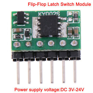 3v 24v 5a Flip flop Latch Switch Module Bistable Single Button 5000ma Led Renwn