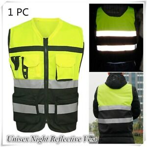 Safety Security Visibility Reflective Vest Construction Traffic Cycling Wear