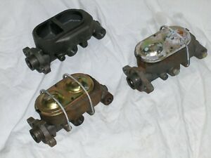 Lot Of 3 Street Rod Master Cylinders Universal Gm 916 12 For Parts Repair