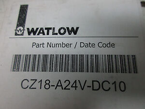 Watlow Czr Solid State Contactor Cz18 a24v dc10 lot Of 3 New In Box