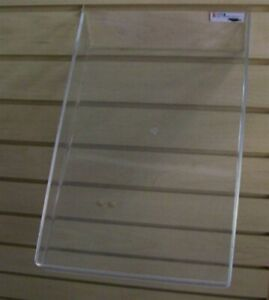 Store Display Fixtures New Slatwall Acrylic Sloping Tray 9 w X 14 l With 1 Lip