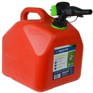 Five 5 Gallon Smartcontrol Rugged Gas Can Spout Air Vent Controllable Flow Rate