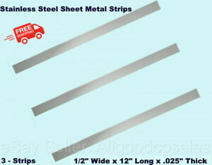 Stainless Steel Sheet Metal Strips 3 1 2 Wide X 12 Long X 025 Thick