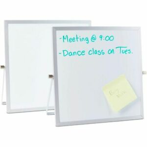 Magnetic Dry Erase Boards Table Top Easels 10 X 10 Inches 2 Pack