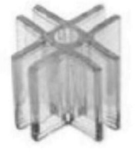 Store Display Fixtures 24 New 4 way 3 16 Clear Lexan Glass Connectors