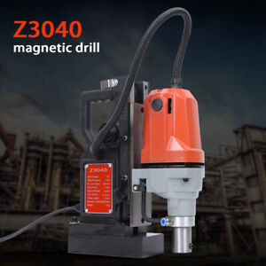 110v 1100w Md40 Magnetic Drill Press 40mm Boring Mag Force Industrial Tapping Us