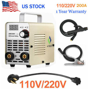 Portable Arc Welding Machine 110v 220v 200a Dc Igbt Mma Inverter Arc Welder Us