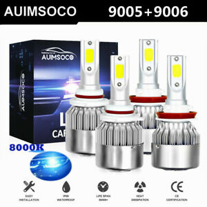4x 8000k Led Headlights Bulb For 94 98 Chevy C k Pickup Silverado Suburban Tahoe