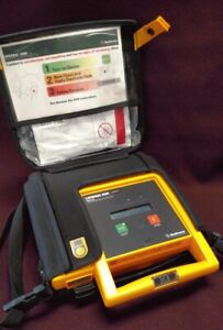 Physio Control Lifepak 500 Factory Recertified New Battery Case And Adult Pad