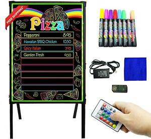 Montex Led Message Board Standing Led Signs 32 X 24 Menu Board With Adjustable