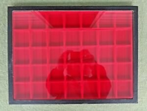 Lot Of 2 Riker 16 X 12 Glass Top Display Cases W Red Insert Trays 12 35 Comp