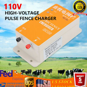 Solar Electric Fence Energizer Controller Animal Orchards Ranch Fencing Charger