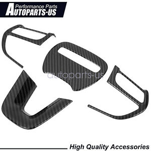 Accessories Steering Wheel Cover Trims Set For Dodge Charger Challenger 2015 20