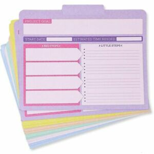 12 Pack Letter Size Kraft Project File Folders With Tabs Note Sections 6 Color