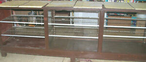 Large Vintage Wood Glass Retail Display Case Cabinet local Pick Up Only