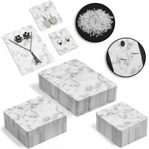 Jewelry Display Cards With Secure Back Marble Design 3 Sizes 810 Pieces