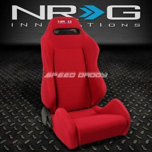 Nrg Type R Fully Reclinable Racing Seat Mount Slider Rail Set Red Passenger Side