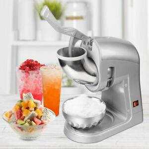 Tabletop Electric Ice Crusher Shaver Machine Snow Cone Chopper Maker 660lbs h