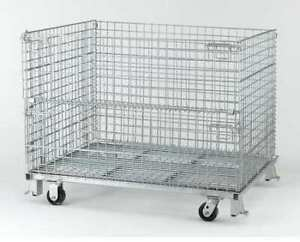 Nashville Wire C404824s4c Collapsible Container 48 w Silver