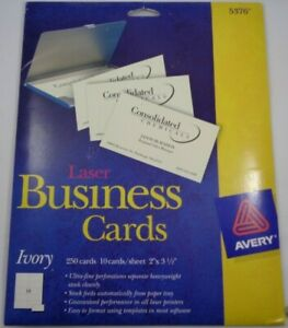 Printable Microperforated Business Cards 2 X 3 5 Ivory Uncoated 150 pack 05376