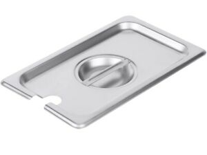 lot Of 7 1 4 Size Stainless Steel Slotted Steam Table Pan Cover Pan Lids New