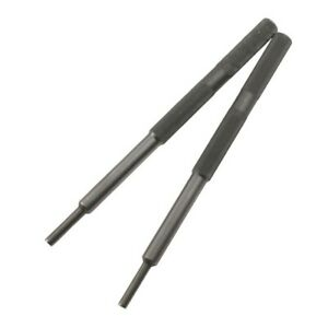 2pcs Dark Gray Universal Valve Guide Remover Grinding Stick Lapping Tool For Car