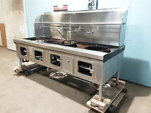 Robert Yick Hd Commercial 100 w Nat Gas 4 Burners Chinese Style Wok Stove