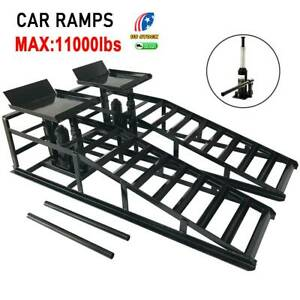 2x Auto Home Car Service Duty Lifts Heavy Ramps Repair Hydraulic Lift Frame New