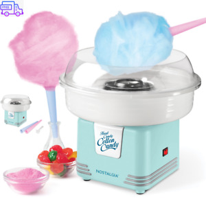 Nostalgia Electric Hard Candy Cotton Candy Maker Sugar Machine Floss Kit For Kid
