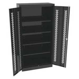 Tennsco 7218 pdbk 24 Ga Steel Cabinet With Perforated Doors 36 W 72 H
