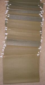 60 Green Used Letter Size Hanging File Folders No Tabs Very Good