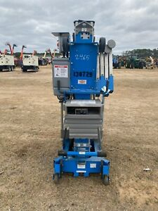 2012 Genie Awp25 Man Lift 25 Deck 31 Work Hgt 12v Push Around Style Outriggers