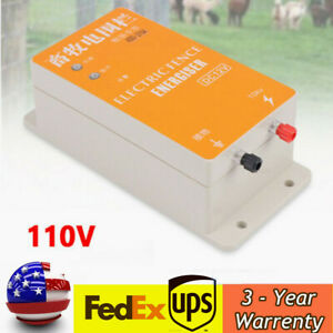 12v Electric Fence Electronic Energizer Charger Animals Electric Fencing Tool Us