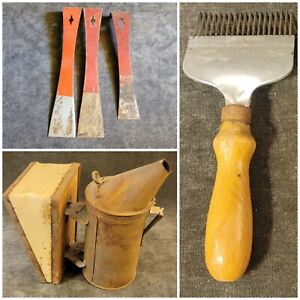 Vintage Uncapping Fork Beekeeping Smoker Hive Frame Pry Remover Tool Bee Supply