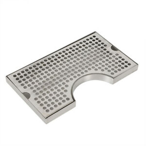 Stainless Steel Drip Tray Polished Removable Kegerator Tap Draft Beer Drip Tray