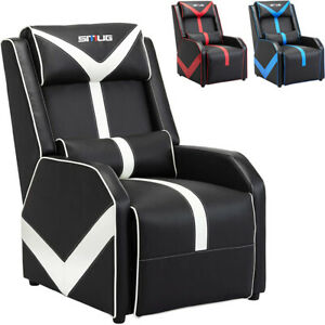 Gaming Recliner Chair Pu Leather Recliner Sofa Adjustable Modern Single Chair