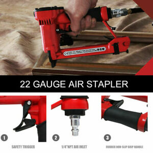 22 gauge Pneumatic Brad Nailer For 1 4 To 5 8 6 To 16 Mm Staples
