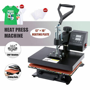 T Shirt Heat Press Machine W 12x10in Heat Pad For Phone Cases Mouse Pads More