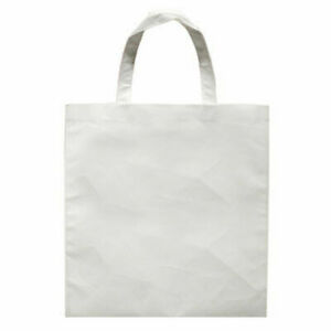 20pcs Blank Sublimation Non woven Diy White Shopping Bags Tote Bags 13 X 10 2