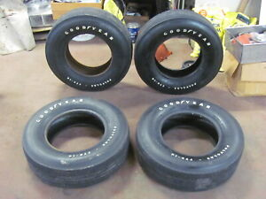 Set Of 4 Goodyear Polyglas F70 14 Tires Chevelle Gto 442