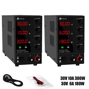 Adjustable Lab Dc Power Supply 30v 10a 6a Precision Variable 4 Digital cable Us