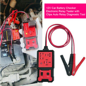 12v Universal Car Relay Tester Tool Relay Auto Battery Testing Checker Accurate